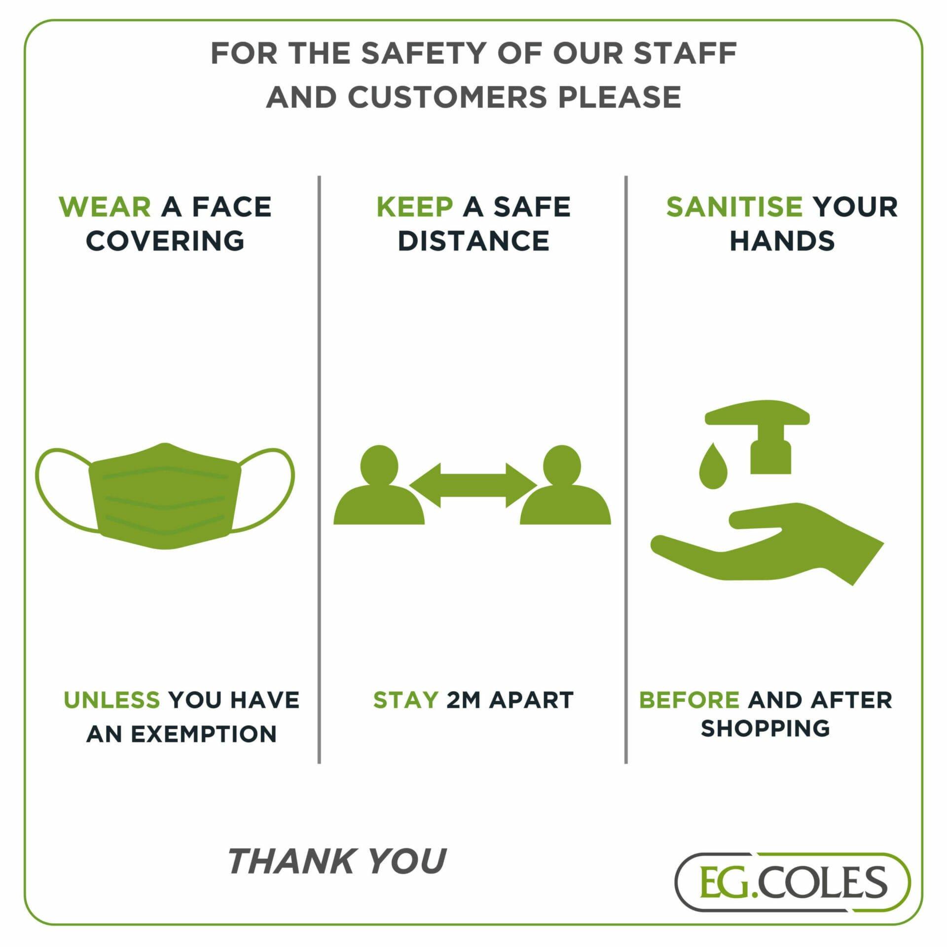 EG Coles Covid Announcement July 2021